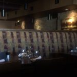 The long bench style booths