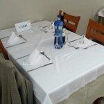 Mesa asignada a los 4 que ibamos de Cadiz para las comidas, siempre la misma