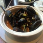 Mussels with pernod, fennel, and leeks