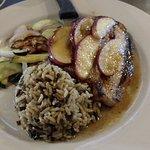 Bourbon glazed pork chop