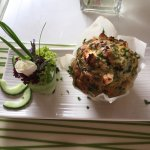 Spinach and feta muffin