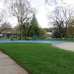 Playgrounds and splash pools for the kids