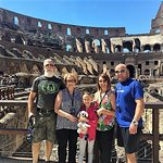 Family at the Roman Colosseum