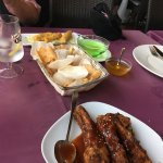 All was lovely. We got the set meal for 3 people 12.50 euros each. Couldn't believe how much the