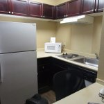 Kitchen in our Extended Stay room
