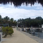 Facing the resort from dock