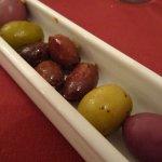 Starter - bowl of olives