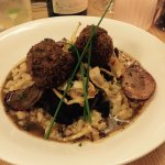 Ox cheeks on risotto