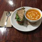 Thai Tomato and Squash soup and half a not so classic blt.