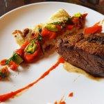 Steak with Avocado Mozzarella Omelet