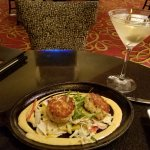 Crab cakes and dry martini