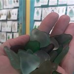 Our seaglass jewelry artists only use natural pieces found on the beach.