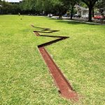Michael Heizer, known for his earth art, this is a good example