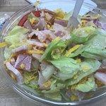 Burge's chef salad and the catfish plate. YUM