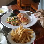 Crab cake, stuffed shrimp