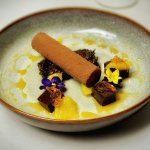 Chocolate & Chestnut Parfait with Tea Soaked Prunes