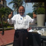 Jose what a nice man! he was our waiter at la terraza located on the marina