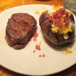 6 ounce Victoria's Filet Mignon with loaded baked potato
