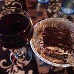 Yummy dessert and wine