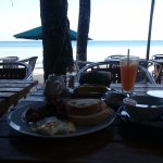 Breakfast while enjoying the beach and the morning breeze!