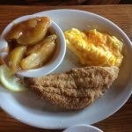 catfish, scrambled eggs & apples (options from Uncle Herschel's Favorite menu item)