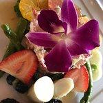 Salad Nicoise Key lime pie and Crab and shrimp salad
