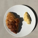 Cooked VS uncooked Croissant... we got delivered the one on the right first