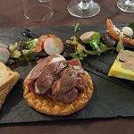 Entrée du menu grilladin : foie gras maison