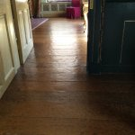 Adzed floor. Quite unusual