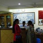 Reception counter of Hotel Miramar residency