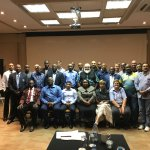 ICC Africa and Africa Cricket Association Participants photo at Hotel Conference Room.