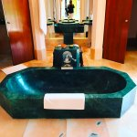 Huge marble bath tub carved out of a single slab of Udaipur marble