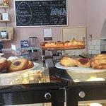 Sweet pastries, croissants etc