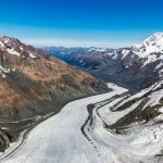 View down the Tasman Glacier