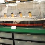 A model in one of the Artist's areas--The Titanic