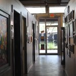 One side of the gallery---the working spaces are on the left