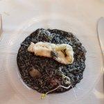 riso al nero di seppia con seppia