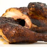 Fall-off-the-bone smoked chicken