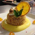 Mon interprétation de la tarte au citron, précipité de Meringue givrée au Jasmin