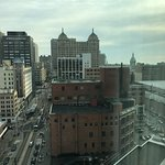 View of Downtown Detroit from hotel room