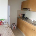 good kitchenette area - microwave, electric hob, fridge and all utensils