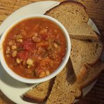 Cajun White Bean Soup & Toast