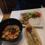 Summer spring rolls and pho