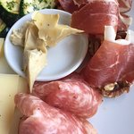 Delicious mixed antipasti
