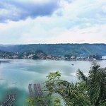 Lake toba panoramic view from Parapat