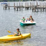 Free kayaks and paddle boats for houseguests!