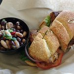 Small Sandwich and Bean Salad For $14 - In a Basket