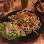 Pad Thai with fish