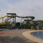 The tallest slides.