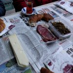 Breakfast time at Kurşunlu Han in Karaköy Perşembe Pazarı.